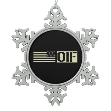 OIF SNOWFLAKE PEWTER CHRISTMAS ORNAMENT