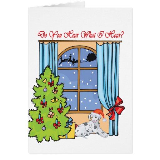 oiga al dalmatian tarjeta