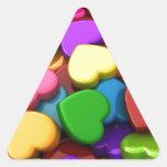 Oiga el caramelo calcomanías de trianguloes personalizadas