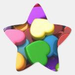 Oiga el caramelo pegatinas forma de estrella personalizadas