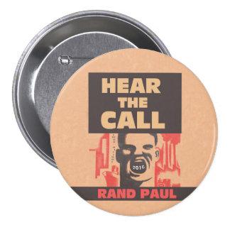Oiga la llamada pin redondo 7 cm