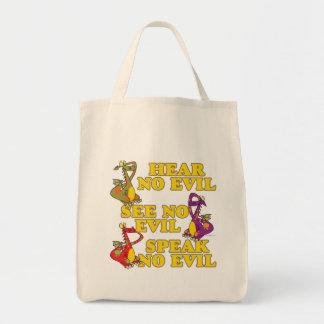 oiga para ver para no hablar ningún dibujo animado bolsas