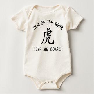 Óigame rugir el año del tigre body para bebé
