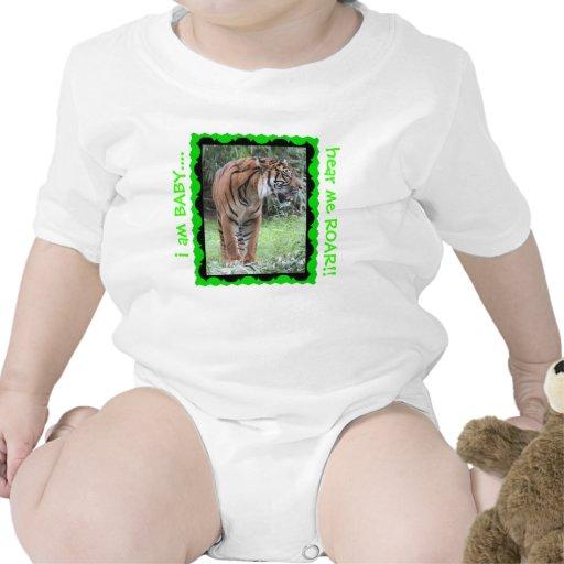 ¡Óigame RUGIR, enredadera del bebé del tigre! verd Camiseta