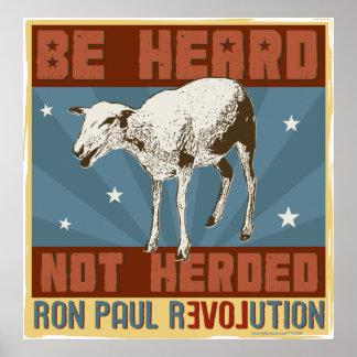 """Óigase,"" poster no reunido de Ron Paul"