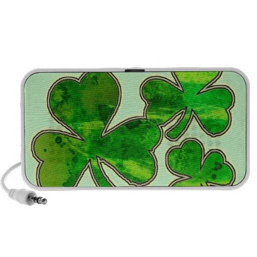 """""""Oigo los tréboles del día de St Patrick de la mús Altavoces De Viaje"""