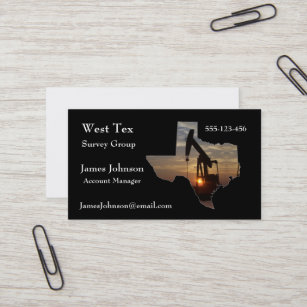 Oilfield business cards templates zazzle oil and gas industry business cards texas shape 2 reheart Image collections