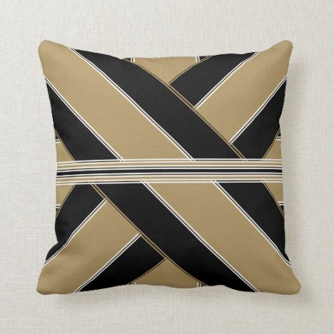 Oil and Gold Gulf Throw Pillow
