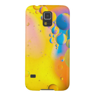 Oil and Water on a Coloured background Cases For Galaxy S5