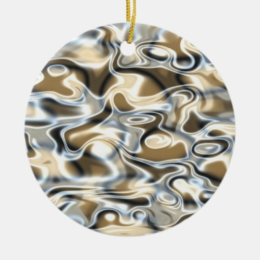 Oil And Water Double-Sided Ceramic Round Christmas Ornament