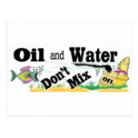 oil and water postcard