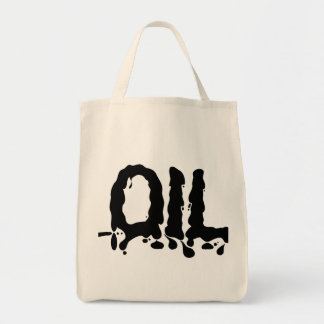 Oil - Black Gooey Sticky Messy - We Love Big Oil Canvas Bags