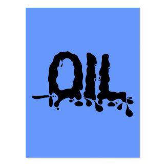 Oil - Black Gooey Sticky Messy - We Love Big Oil Postcards
