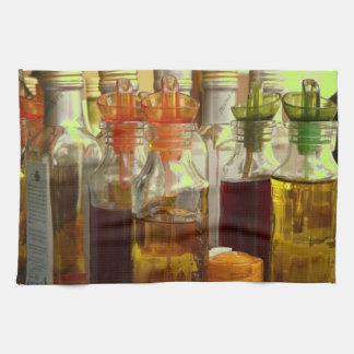 Oil Bottles Kitchen Towel