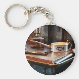 Oil Can and Wrench Key Chain