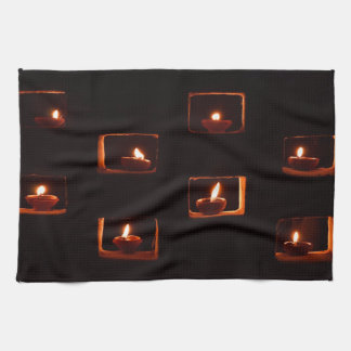Oil candles hand towel