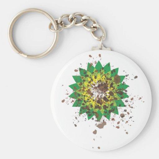 Oil Coast Basic Round Button Keychain
