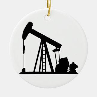 Oil Crane Ceramic Ornament