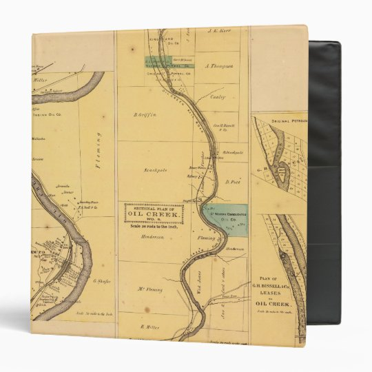 Oil Creek Pennsylvania Atlas Map Binder