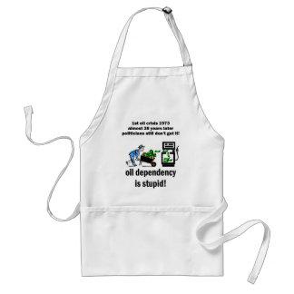 oil dependency is stupid adult apron