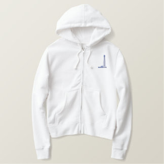 Oil Derrick Embroidered Hoodie