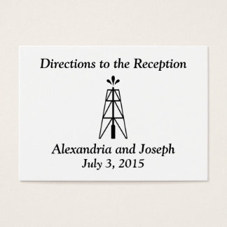 Oil Derrick Wedding | Directions to the Reception Business Card