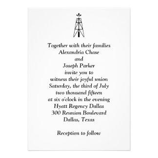 Oil Derrick Wedding | Invitation
