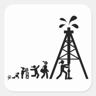 Oil Driller Square Sticker