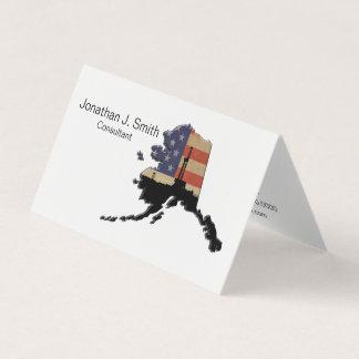 Oil Drilling Rig, Alaska, Stars, Stripes Business Card