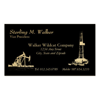 Oil Drilling Rig and Oil Pumping Units Double-Sided Standard Business Cards (Pack Of 100)