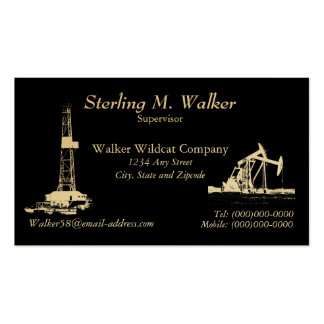 Oil Drilling Rig and Oil Pumping Units Business Cards