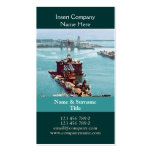 Oil drilling rig watercolor customizable Double-Sided standard business cards (Pack of 100)