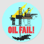 Oil Fail Round Stickers