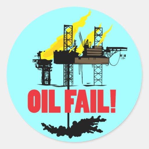 Oil Fail Round Stickers