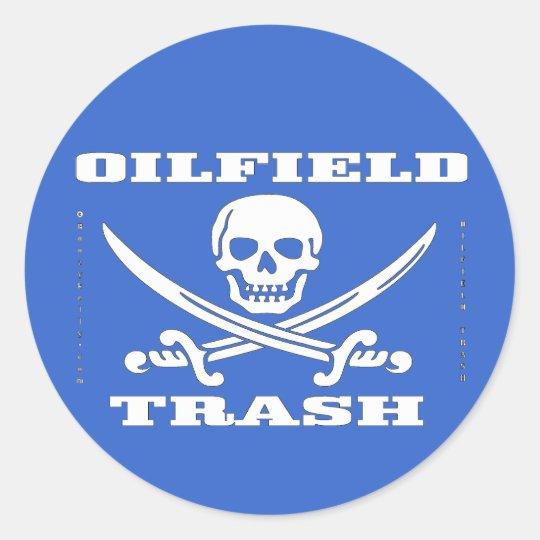 Oil Field Hard Hat Sticker,Oil Field Gift,Oil,Gas Classic Round Sticker
