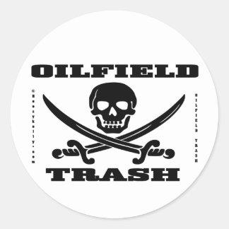 Oil Field Hard Hat Sticker,Skull And Crossbones Classic Round Sticker