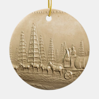 Oil Field  Humble, Texas Ceramic Ornament