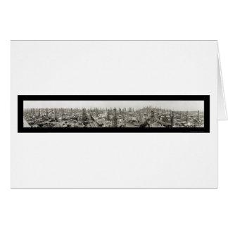 Oil Field Long Beach Photo 1923 Card