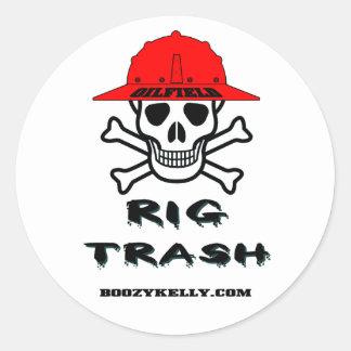 Oil Field Rig Trash, Oil Field Sticker