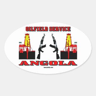 Oil Field Service Angola,International Oilman,Oil Oval Sticker