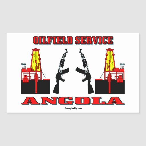 Oil Field Service Angola,Oil,Gas,Drilling Rigs Rectangular Sticker