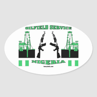 Oil Field Service Nigeria,International Oilman,Oil Oval Sticker