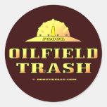 Oil Field Trash,Hard Hat Sticker,Black Gold,Oil