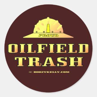 Oil Field Trash,Hard Hat Sticker,Black Gold,Oil Classic Round Sticker