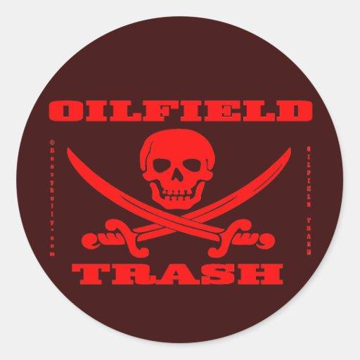 Oil Field Trash Hard Hat Sticker,Oil,Gas,Oilman