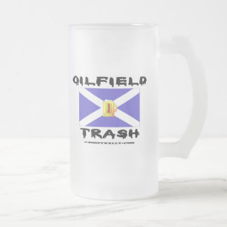 Oil Field Trash,Scotland,Oil 16 Oz Frosted Glass Beer Mug