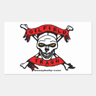Oil Field Trash,Skull & Crossbones,Biker,Oil,Gas Rectangular Sticker