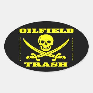 Oil Field Trash,Skull & Crossed Swords,Oil Patch Sticker