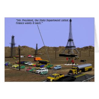 Oil Fields - Eiffel tower Card