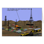 Oil Fields - Eiffel tower Greeting Cards